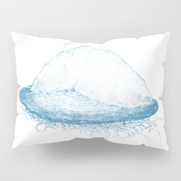 Velella velella (blue) Pillow Sham
