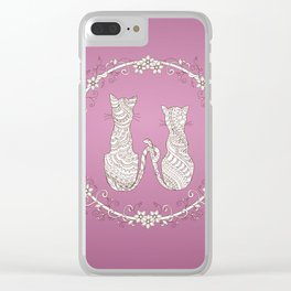 lovely cats Clear iPhone Case
