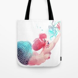 Mermaid and Jelly Fish Tote Bag
