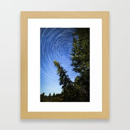 White Fish Trails Framed Art Print