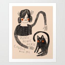 Resistant Cat Art Print
