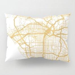 LOS ANGELES CALIFORNIA CITY STREET MAP ART Pillow Sham