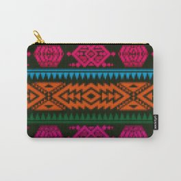 Ethnic Knitted pattern Carry-All Pouch