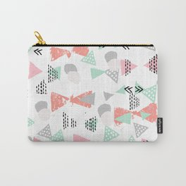 Pastel minimal pattern gender neutral nursery pattern home office trendy designs Carry-All Pouch