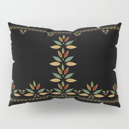 """Tree of Polka Dots Leaves (Black)"" Pillow Sham"