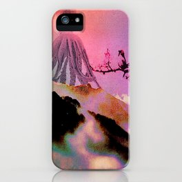 The arrival of the huge octopus to the paradise of the celestial harmonies iPhone Case