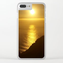 Sunset over the Canary Islands Clear iPhone Case