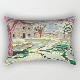 Garden at the Costa Brava Rectangular Pillow