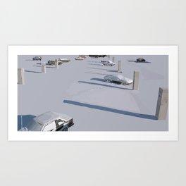 Lonely Shadows Art Print