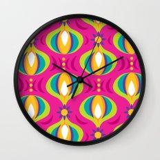 Oohladrop Fuschia Wall Clock