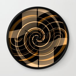 Caramel & Licorice Fudge Wall Clock