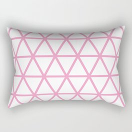 Light Pink Triangle Pattern 2 Rectangular Pillow