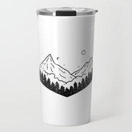 Montagnes dans les nuages Travel Mug