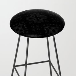 Dark Cube Bar Stool