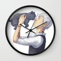 jem Wall Clocks featuring Jem and Church by taratjah