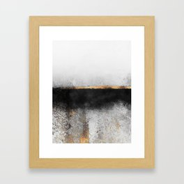 Soot And Gold Framed Art Print
