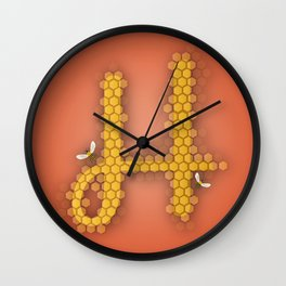 H is for Honeycomb Wall Clock