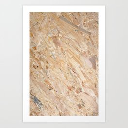 Wooden flakeboard industrial background Art Print