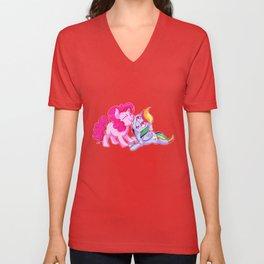 Pinkie and Dash Unisex V-Neck