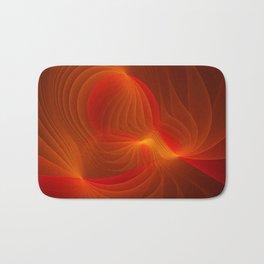 Much Warmth, Abstract Fractal Art Bath Mat