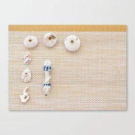 Nautical design urchins and seashells Canvas Print
