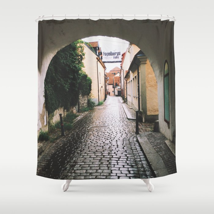 Visby Street Shower Curtain