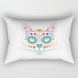 Gato De Los Muertos Rectangular Pillow