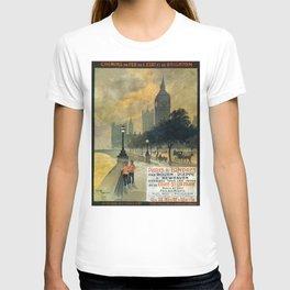 Paris a Londres, French Travel Poster T-shirt