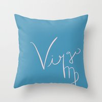 virgo Throw Pillows featuring Virgo by LindsayMichelle