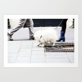 Dog walk Art Print
