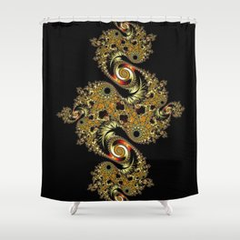 Golden Star Shower Curtain