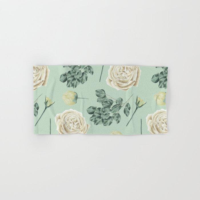 Mint Green Bath Towels Amazing Rose Pattern Cream Mint Green Hand Bath Towel By Naturemagick
