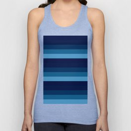teal blue stripes Unisex Tank Top