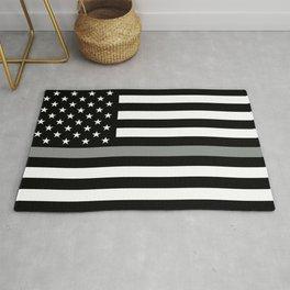 U.S. Flag: Black Flag & The Thin Grey Line Rug