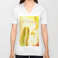 sound V-neck T-shirts featuring Sound by Fine2art