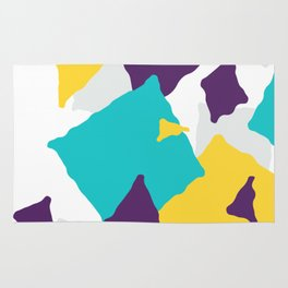 Abstract Geometric shapes texture Rug