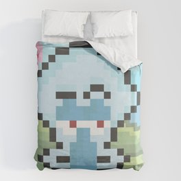 Squidward Pixels Duvet Cover