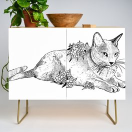 Cat and acacias Credenza
