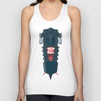 pitbull Tank Tops featuring Pitbull Hoverboard by Staermose