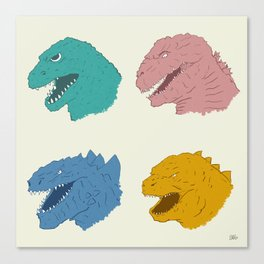 Godzilla Evolution Canvas Print