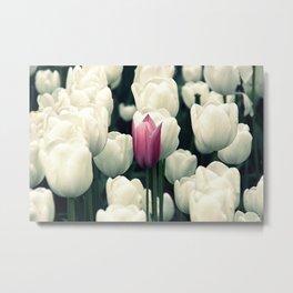 lila einsamblüte Metal Print