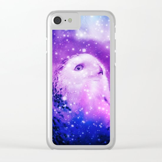 Celestial Owl Clear iPhone Case
