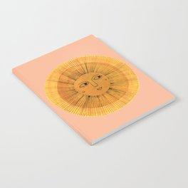Sun Drawing Gold and Pink Notebook
