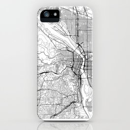 Portland Map White iPhone Case