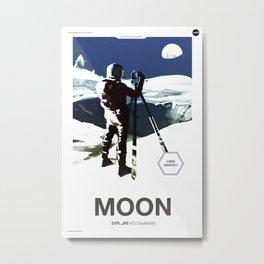 Moon 2 Mars - Moon Metal Print