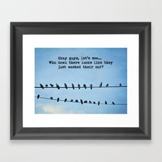 When Pigeons Plan... Framed Art Print