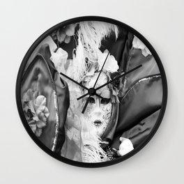Venetian carnival mask D - Lady Nature Wall Clock