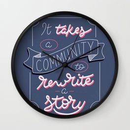 Rewrite the Story Wall Clock