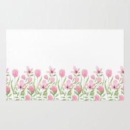 Blush pink blossom Rug