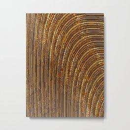 zara - art deco arc arch design in bronze copper gold Metal Print